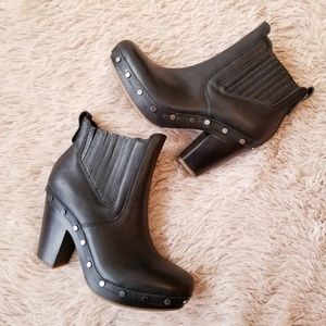 UGGPure Carberry Leather Ankle Boots Heel Booties